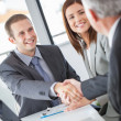 Businessmen Shaking Hands — Stock Photo
