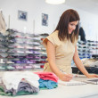 Shop Assistant at a Clothes Store — Stock Photo