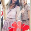 Two Smiling Women Window Shopping — Stock Photo