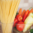 Stock Photo: Spaghetti and Vegetables