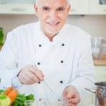 Chef Beating Eggs — Stock Photo