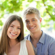 Outdoor Portrait of a Happy Couple — Stock Photo #34735815