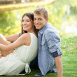 Outdoor portrait of a happy couple. — Stock Photo #34736147