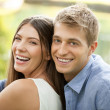Stock Photo: Outdoor Portrait of a Happy Couple
