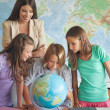 Students in a Geography Lesson — Stock Photo