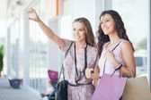 Women Photographing Themselves While Shopping — Stock Photo