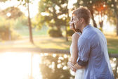 Outdoor shot of a happy couple — Stock Photo