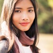Beautiful Young Asian Woman Outdoors — Stock Photo