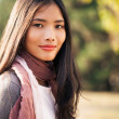 Beautiful Young Asian Woman Outdoors — Stok fotoğraf