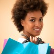 African Woman With Shopping Bags — Stock Photo #34742895