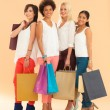 Smiling Women With Shopping Bags — Foto de Stock