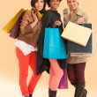 Smiling Women With Shopping Bags — Stock Photo #34743083