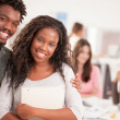 AfricCollege Students Smiling — Stock Photo #34745411