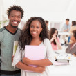 African College Students Smiling — Stock Photo