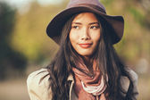 Elegant Asian Woman Outdoors — Stock Photo