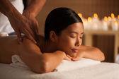 Thai Woman Enjoying a Back Massage — Stock Photo