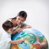 Mother and Son Learning Together — Stock Photo