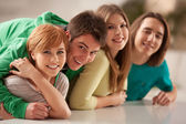 Group of Teenagers Smiling — Stock Photo