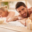 Couple Enjoying a back Massage — Stock Photo #34752141