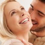 Cute Caucasian Couple Smiling — Stock Photo #34752517