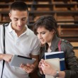 College Students With Tablet — Stockfoto #34755029
