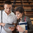 Stockfoto: College Students With Tablet