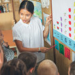 Chinese Class: Students Learning Numbers — Stock Photo