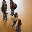 Students Talking in the Hallway — Stock Photo