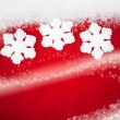 Red Snowflake Background — Stock fotografie