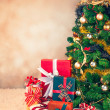 Christmas Tree and Presents — Stock fotografie