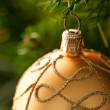 Yellow Christmas Ornament — Stock Photo