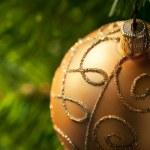 Gold Christmas Ornament — Stock Photo