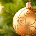 Yellow Christmas Ornament — Stock Photo