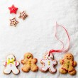 Gingerbread Men — Stock fotografie #34756323