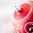 Red Christmas Ornament — Stok Fotoğraf #34756573