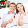 Couple Drinking Champagne — Foto Stock #34756607