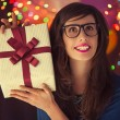 Hipster Woman's Birthday — Stock Photo