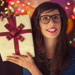 Hipster Woman's Birthday — Stockfoto #34756639