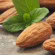 Stock Photo: Almonds in Close-Up