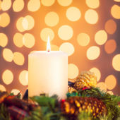 Christmas Candle — Foto de Stock