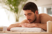 Man Waiting for a Massage — Stock Photo