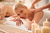 Woman Enjoying a Back Massage — Stock Photo