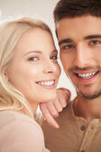 Cute Caucasian Couple Smiling — Stock Photo