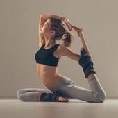 Pigeon Yoga Pose — Stock Photo