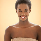 Spa Portrait of a SMiling African Woman — Stock Photo