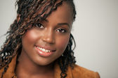 Smiling African Teenage Girl — Stock Photo
