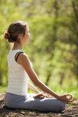 Posa di yoga del loto — Foto Stock