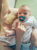 Baby Boy With a Pacifier — Stock Photo