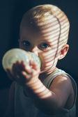 Baby Boy Drinking Milk — Stock Photo