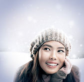 Winter Woman — Stock Photo